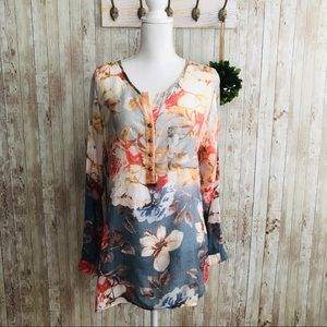 Soft Surroundings • Floral Embroidered Tunic